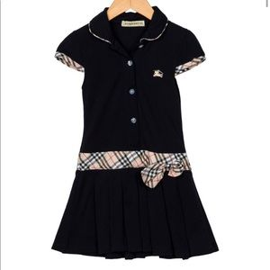 Burberry girls collared pleated dress